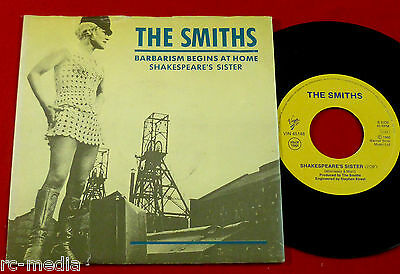 """The Smiths -Barbarism Begins At Home- Very Rare Italian 7"""" with Picture sleeve"""