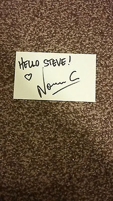 Fatboy Slim Norman Cook DJ - Hand Signed Autographed 5x3 White Card