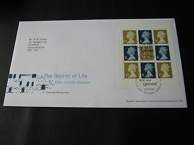FDC - 2003 - Secret of Life DNA pane - with Tallents House Handstamp (2545)