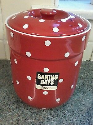 Spode Baking Days Cannister New!!