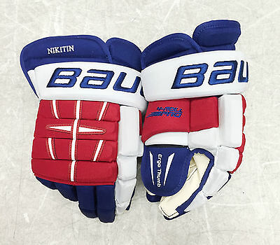 "Pro Stock Bauer 4 ROLL PRO 15"" TEAM RUSSIA Hockey Gloves NHL FREE SHIPPING"