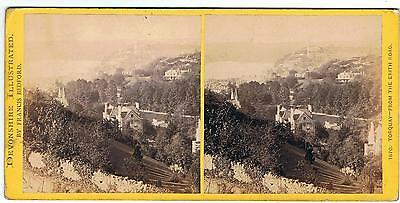 Stereoview - Devonshire By F Bedford - No 1870 Torquay From The Erith Road