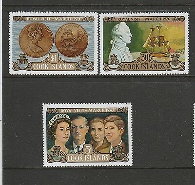 Cook islands 1970 Royal Visit UM/MNH SG 328/30