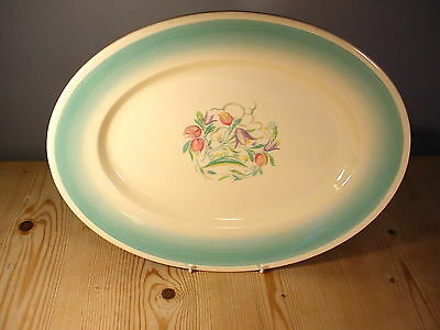 """Susie Cooper """"Dresden Spray"""" Large Meat Platter 14 Inches"""