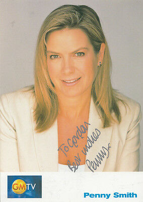 Penny Smith GMTV Cast Card Hand Signed Photo