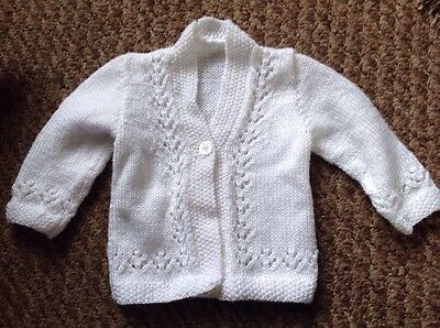Hand Knitted Cardigan, 0-3 Months