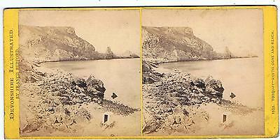 Stereoview - Devonshire By F Bedford - No 1525 Torquay - Anstis Cove And Beach