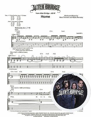 """Alter Bridge - American Rock Band - Autographed """"Home"""" Sheet Music * Creed"""