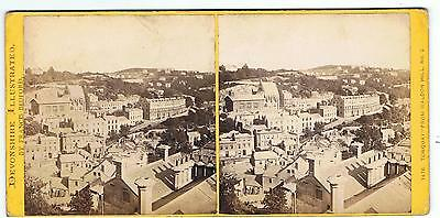 Stereoview - Devonshire By F Bedford - No 1476 Torquay - From Waldon Hill No 2