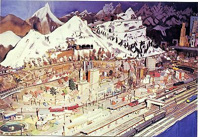 Colchester Zoo - Model Railway - Switzerland - Postcard View