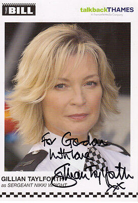Gillian Taylforth as Sgt Nikki Wright ITV The Bill Hand Signed Cast Card Photo