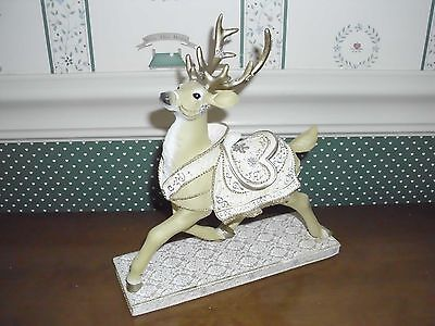 Westland Reindeer Collection Figurine-White Christmas-New