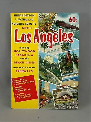 Los Angeles Hollywood Pasadena Beach City Freeway Maps Photos Guide Book Vintage