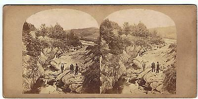 Stereoview - View On The River Ourane , Near Bantry Co Cork Ireland By W England