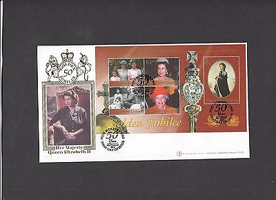Papua New Guinea 2002 Golden Jubilee Miniature Sheet Internet Stamps FDC. 1/100