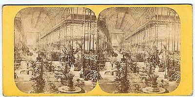 Stereoview - No 67 Crystal Palace - General View Of The Nave