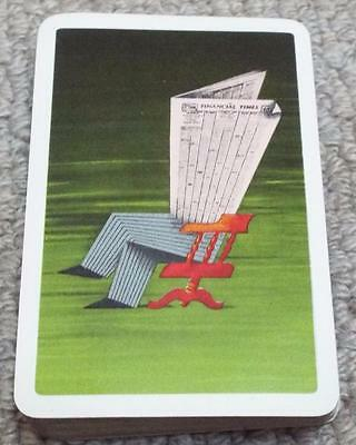 Financial Times - Abram Games - 1950's Pack of Advertising Playing Cards