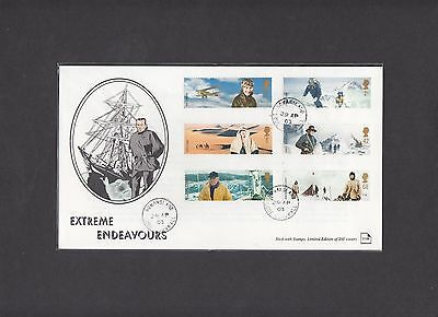 2003 Extreme Endeavours Stick with Stamps First Day Cover Nomansland CDS