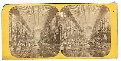 Stereoview - No 1 Crystal Palace - The Nave