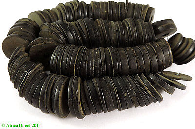 Coconut Shell Beads Disks Heishi Africa Loose SALE WAS $9.99