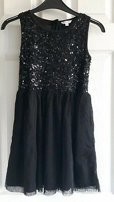 Girls Black Sequined Party Dress Age 9 Years Miss Evie