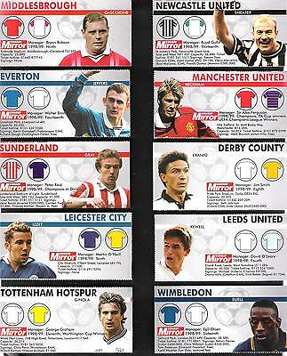 1999,daily Mirror,fixtures---10 Different Clubs