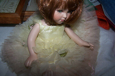 small doll  red hair  beautiful gown  so cute  marie osmond doll