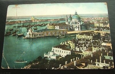 Postcard : Italy, Venice, German 10 Pfennig Stamp Posted 1909