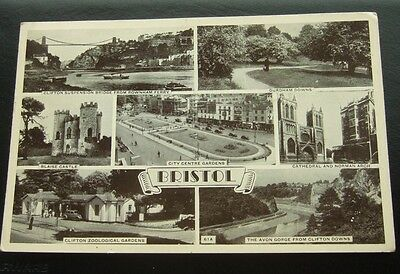 Postcard : Real Photo : Bristol Multi-View 7 Photos : Posted 1954