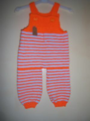 HANDKNITTED DUNGAREES 6-9 mths MTHS NEW!!!!!!!!!!! reduced