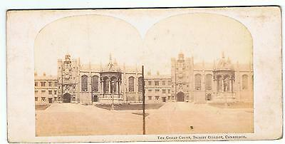 Stereoview - The Great Court , Trinity College  Cambridge