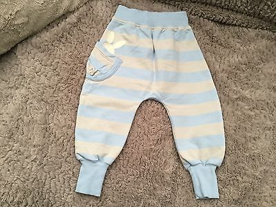 Toddler Boys No Added Sugar Pale Blue Grey Role Poly Pants. Age 12 Months. VGC