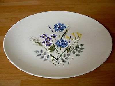 Ridgway Country Garden  Oval Platter / Plate Made in England