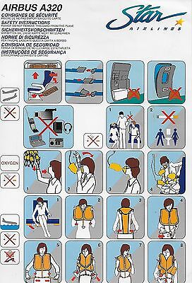 Star Airlines (Now Xl Airways France) - Airbus A320 - Safety Card - Consignes