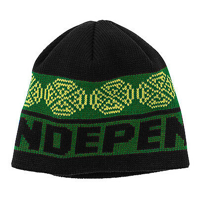 INDEPENDENT Skateboard Beanie WOVEN CROSSES BLACK/GREEN