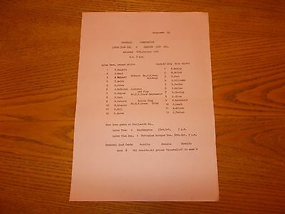 LUTON TOWN RESERVES v CARDIFF CITY RESERVES  1976  FOOTBALL COMBINATION