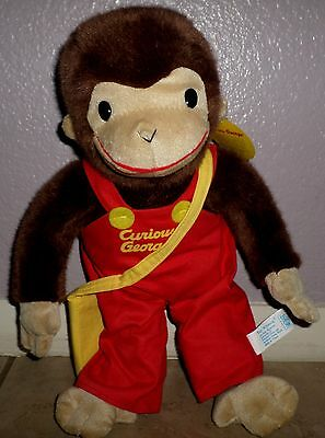 "Curious George 14"" Morning Star Plush Doll Newspaper Mail Bag New With Tag"