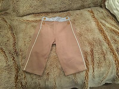 No Adder Sugar Boy Girl Beige Nautical Pants Trousers. Age 12 Months. Excellent