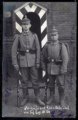 Ww1-German Soldiers With Spike Helmet And Rifle+Top Photo+