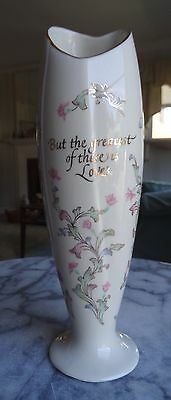 "Lenox Floral Bud Vase ""But the Greatest of These is Love"""