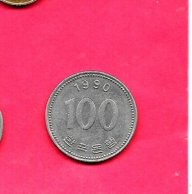 South Korea Km35.2 1990 Older Vf-Very Fine-Nice Large 100 Won Coin