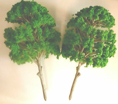 2 Green Mulberry Trees Model Wargames FarmTrain Railway Scenery:Large15cm Tall