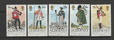 Alderney 1985 Regiments/Uniforms UM/MNH SG A23/7