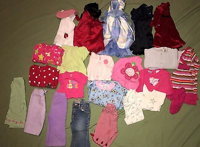 Huge Lot of 23 Baby Girl Clothes Outfits Sleepers Size 12 Months Carter's Place