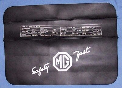 VINTAGE MG SAFETY FAST Auto Car Mechanics Fender Cover Protector Mat Accessory