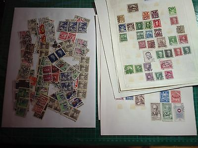 Ceskoslovensko Stamps Collection On 7 Pages & Some Loose Used As Photos