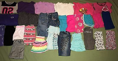 Huge Lot of 28 Girl Clothes Size 5 Name Brand Justice Adidas Place Spring Summer