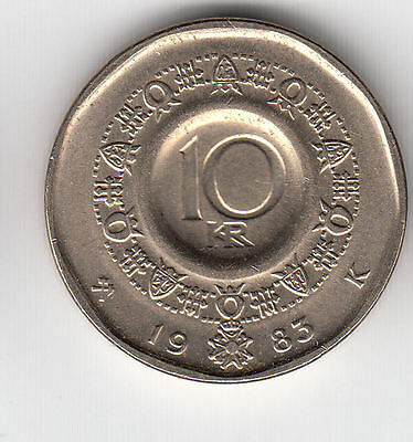 Norway  10 Kroner 1983 King Unc     109J                By Coinmountain