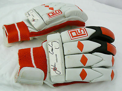 #5105 PS Youth Red & White Leather Batting Cricket Gloves
