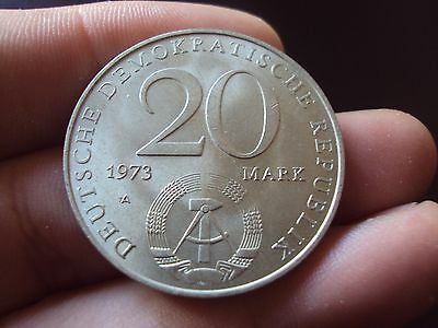Germany 20 Mark 1973 A Otto Grotewohl Unc Coin B28